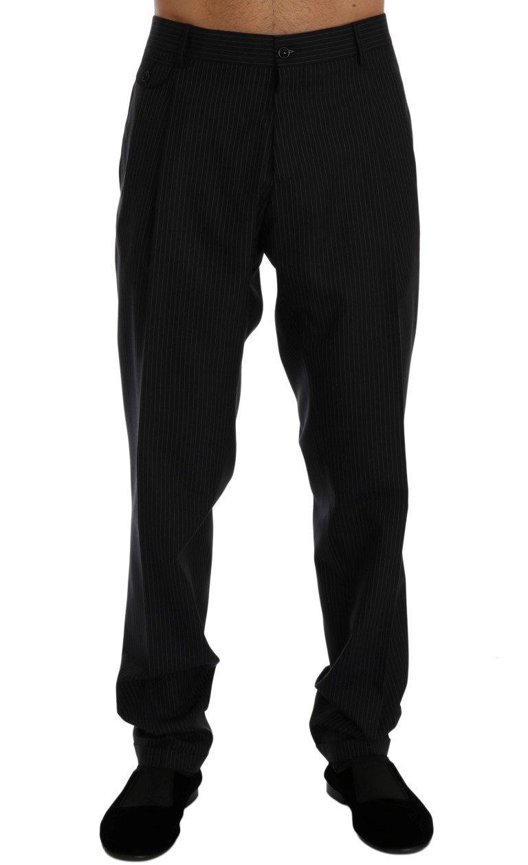 Dolce & Gabbana Men's Wool Stretch Dress Trouser Blue PAN60349 - IT52 | XL