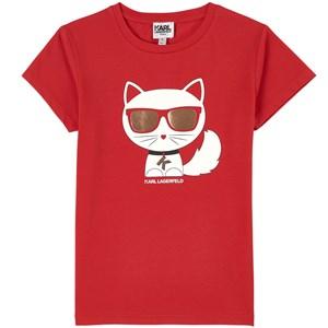 Karl Lagerfeld Kids Choupette T-shirt Röd 4 år