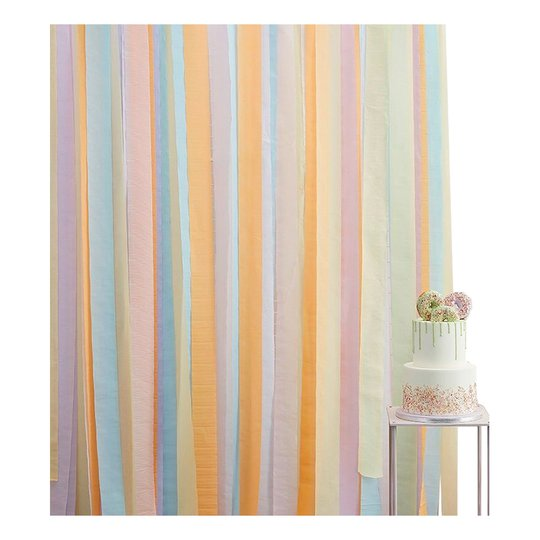 Backdrop Streamers Pastell
