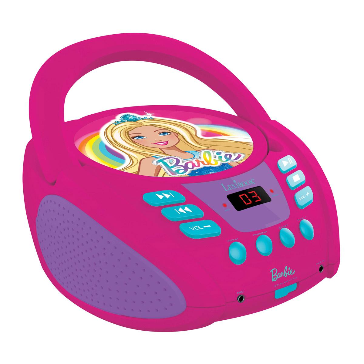 Lexibook - Barbie Portable CD player with Mic Jack (RCD108BB)