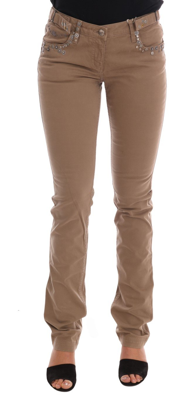 Costume National Women's Cotton Stretch Slim Fit Jeans Beige SIG30131 - W26