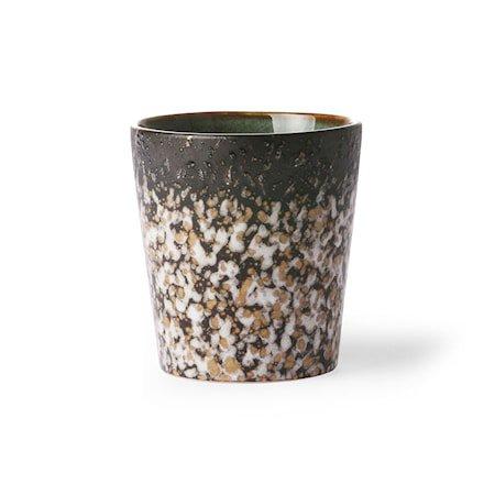 70's Keramikk Kopp Brun 20 cl