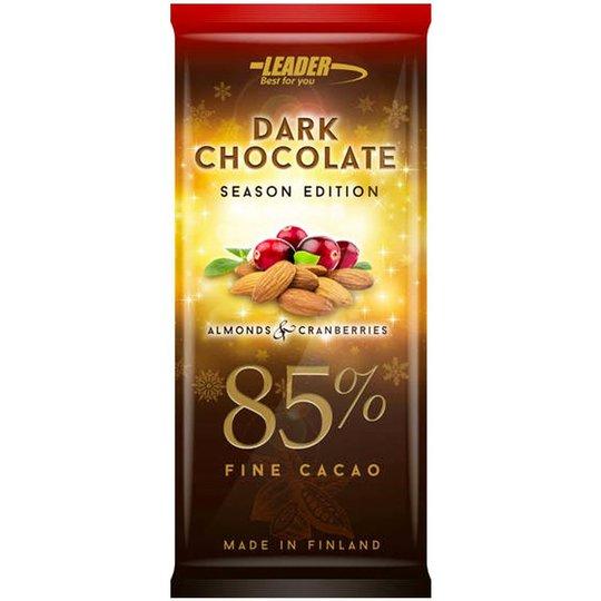 "Chokladkaka ""Almonds & Cranberries"" 100g - 50% rabatt"