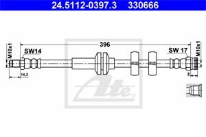 Jarruletku, Etuakseli, ALFA ROMEO 147, 156, 156 Sportwagon, GT, 46474539