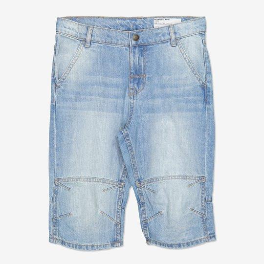 Ensfarget shorts blå denim