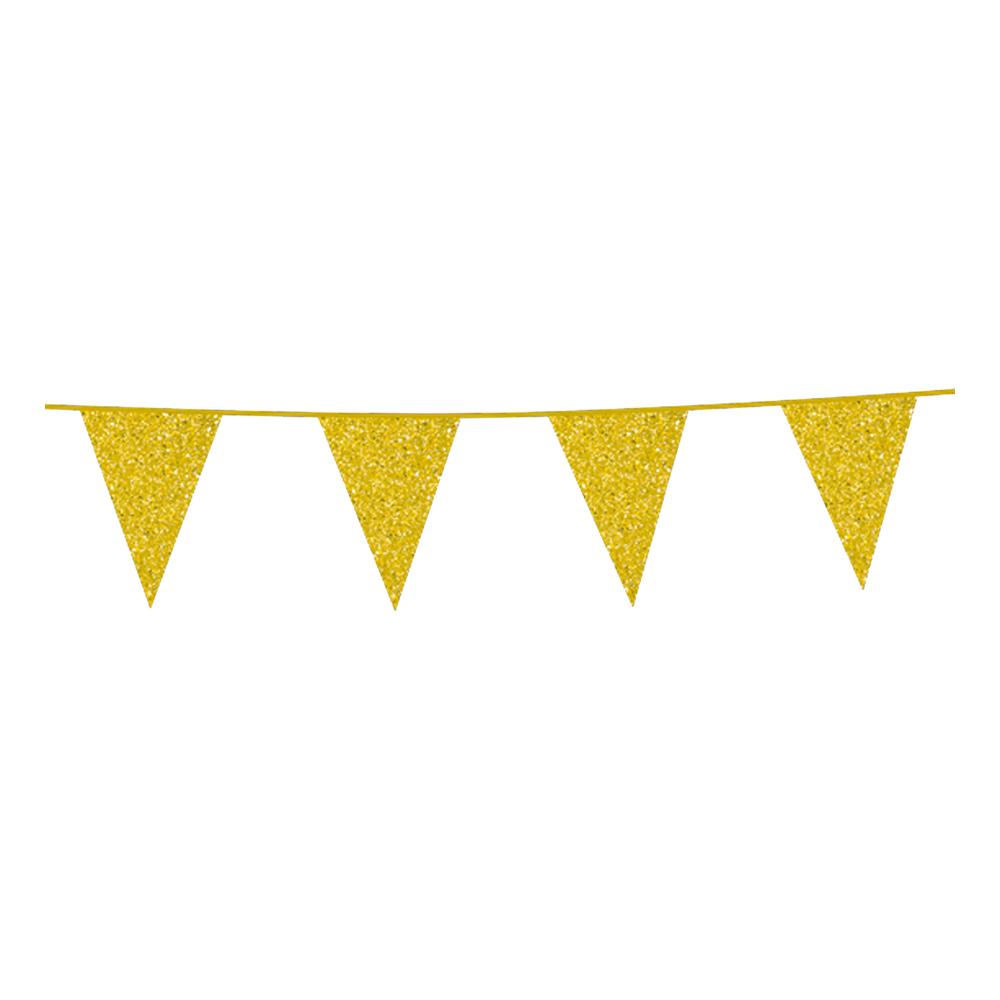 Flaggirlang Glitter Guld
