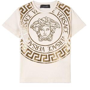 Versace Medusa Print T-shirt Vit 5 år