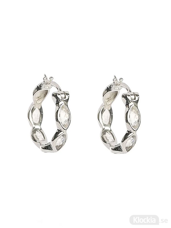 Syster P Therese Shine Moonstone Hoops Silver One Size ES1207