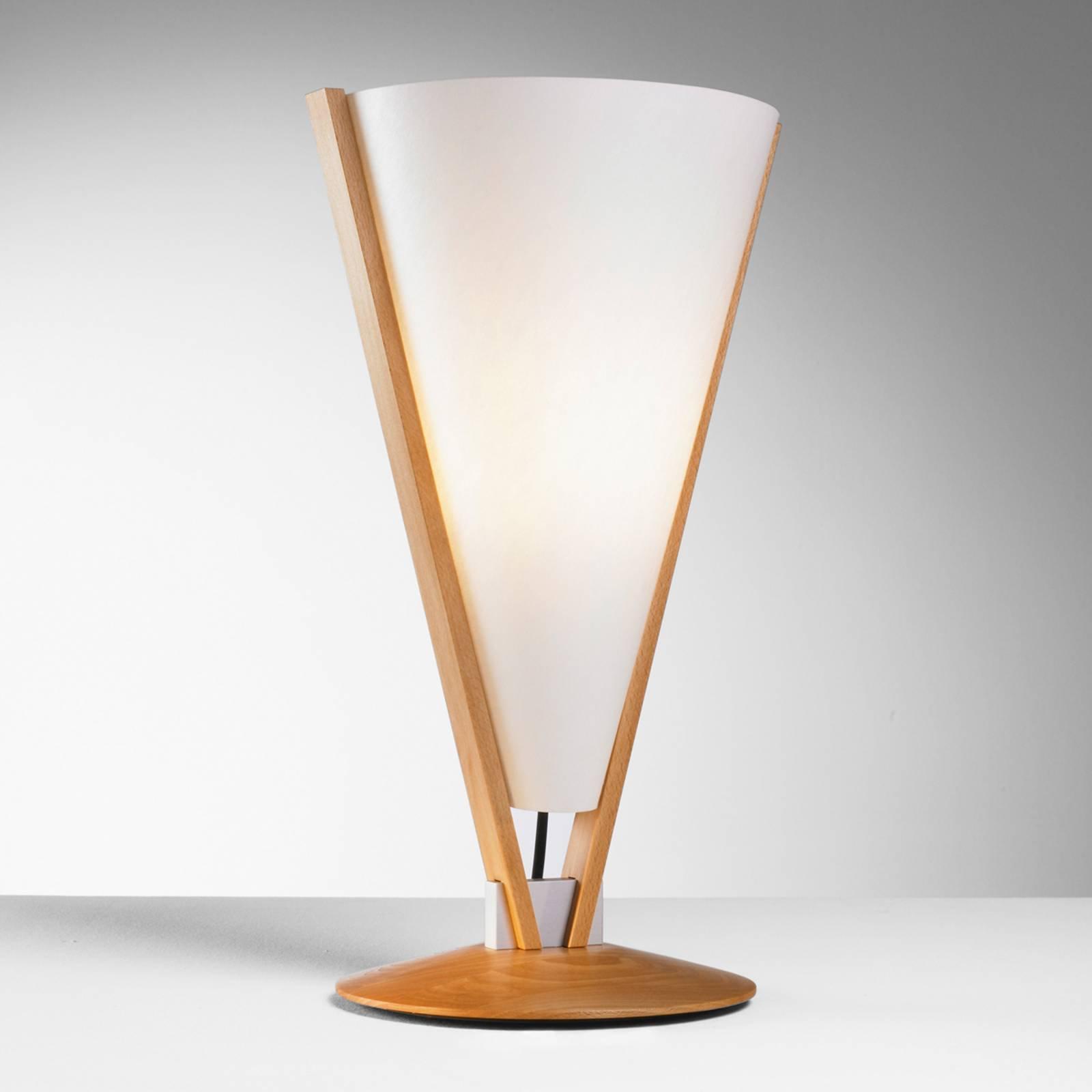 SEBA bordlampe med manuell bryter, bøk