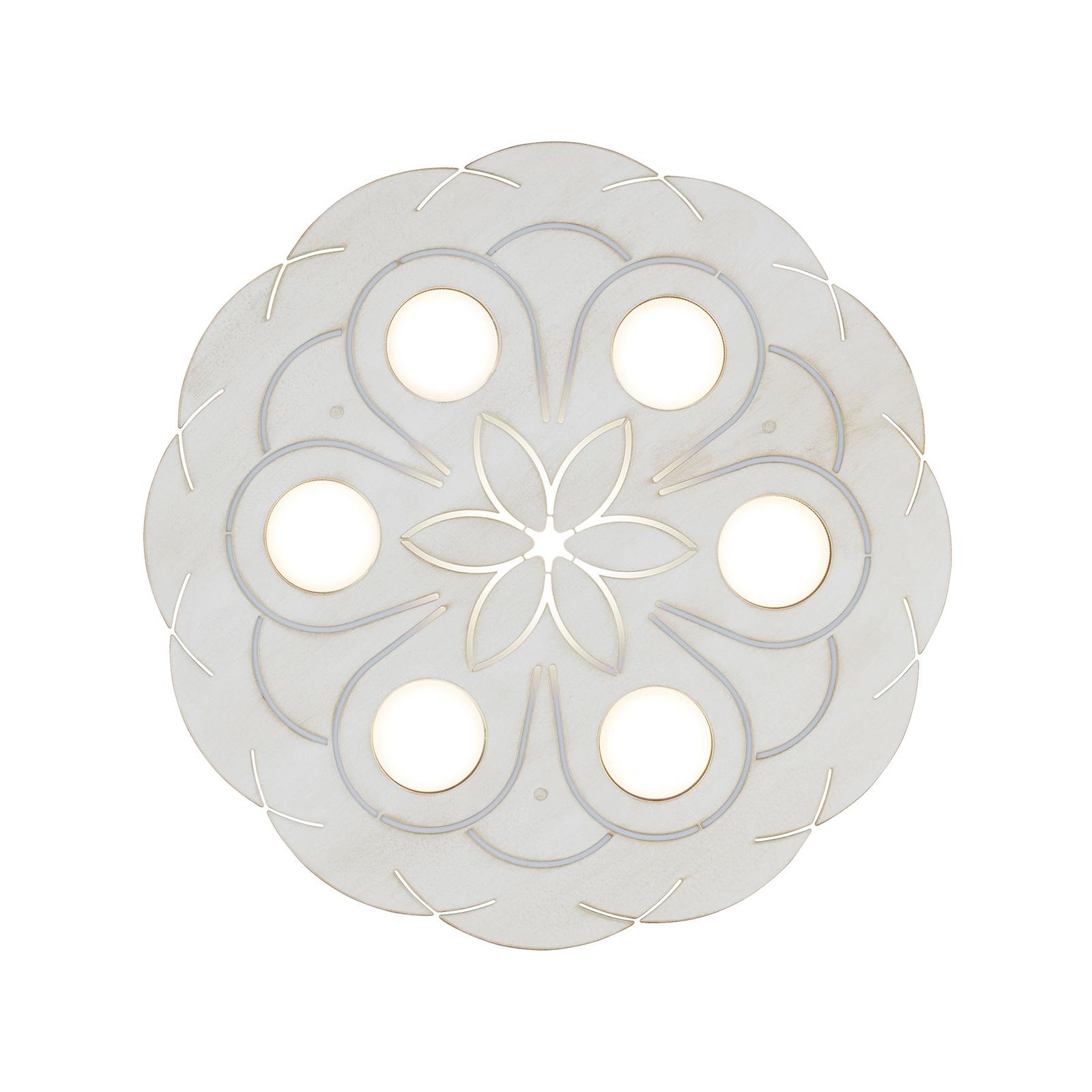 Kattovalaisin 3531/6PL, savana white, 6-lamppuinen