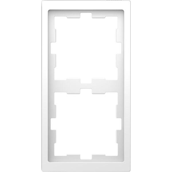 Schneider Electric MTN4020-6535 Kombinasjonsramme 2-roms, t-plast Lotus, hvit