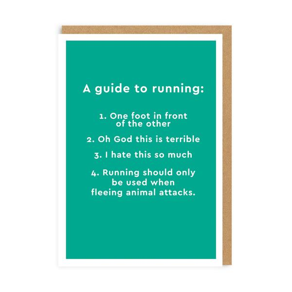 Guide To Running Greeting Card