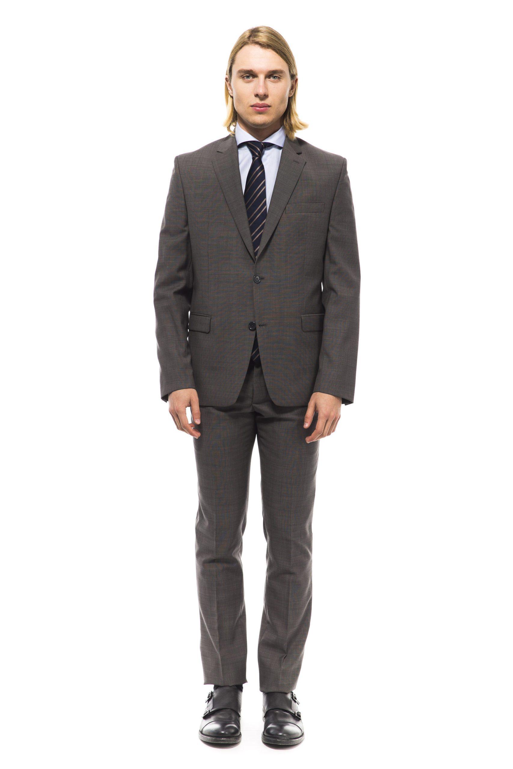 Uominitaliani Men's Suit Gray UO994940 - IT50   L