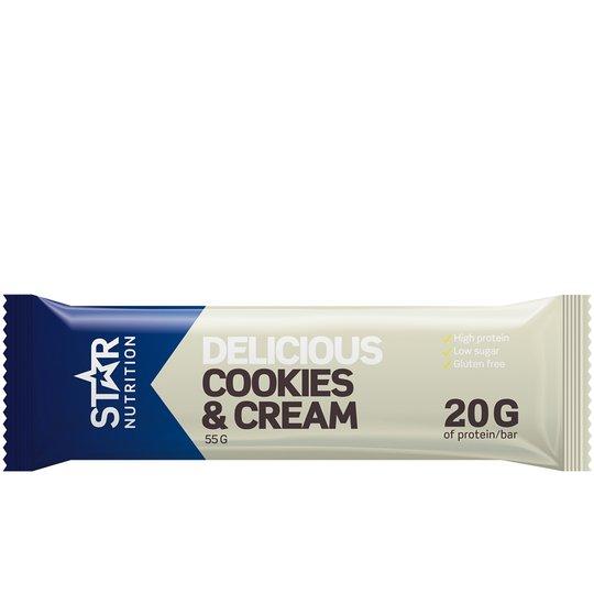 Proteiinipatukka Cookies & Cream - 40% alennus