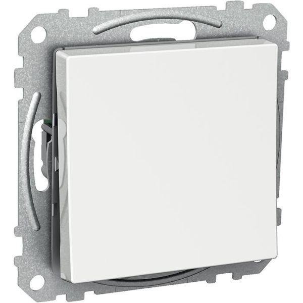 Schneider Electric Exxact WDE002131 Kytkin nelikulmainen keinuvipu, ilman kouria, valkoinen risti