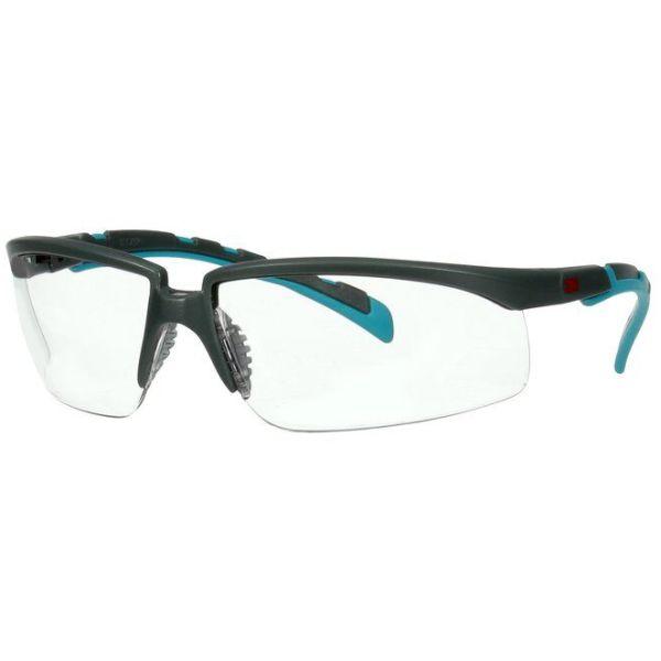 3M Solus 2000 Vernebriller Grå/blå-grønn brillestang, klar linse