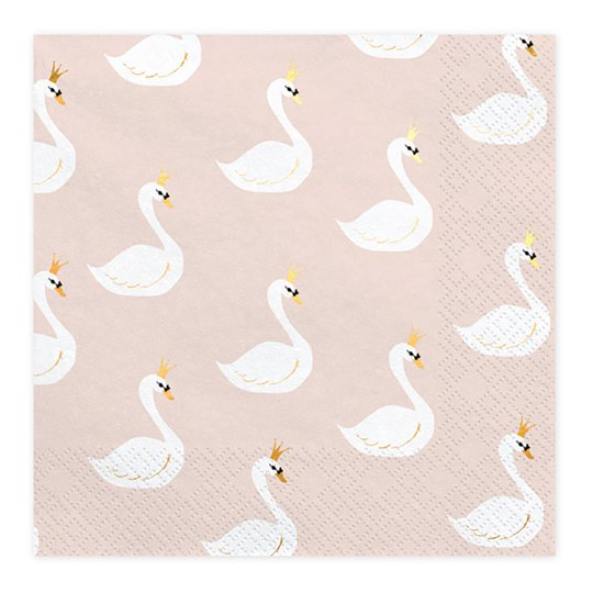 Servetter Lovely Swan - 20-pack