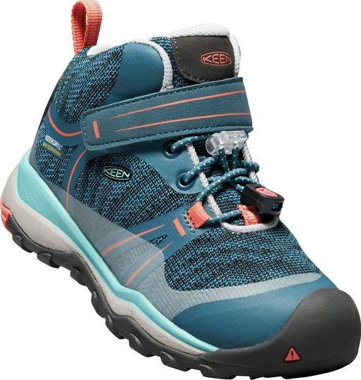 KEEN Terradorra Mid WP Sneakers, Aqua Sea/Coral 24