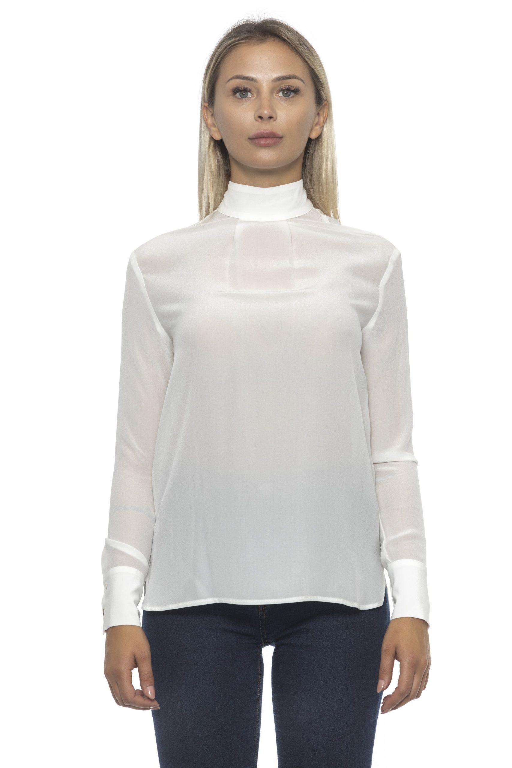 Alpha Studio Women's Latte Sweater White AL1192212 - IT46   L