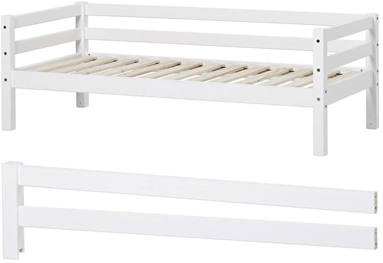 Hoppekids Juniorisänky Basic 70x160cm + Turvalaita, Valkoinen