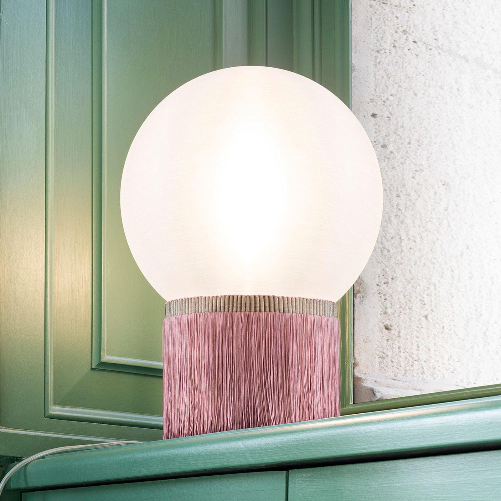 Slamp Atmosfera -pöytävalaisin Fringe 30 cm roosa