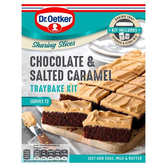 Dr Oetker Chocolate & Salted Caramel Traybake Kit 425g