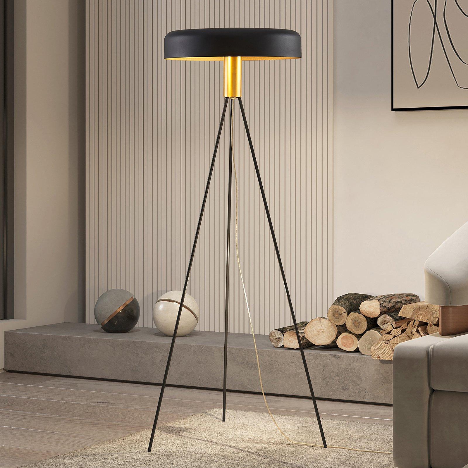 Lucande Filoreta gulvlampe i svart