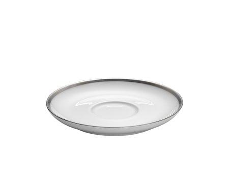 Bistro fat Cecil hvit/sølv til kopp 18cl