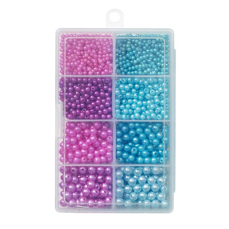 Kinetic Pearl Beads Kit Flytekuler, Purple/Light Blue