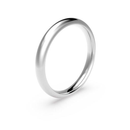Förlovningsring i platina 3mm, 57