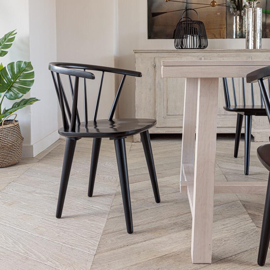 Brunswick Dining Chair – Black (2pk)