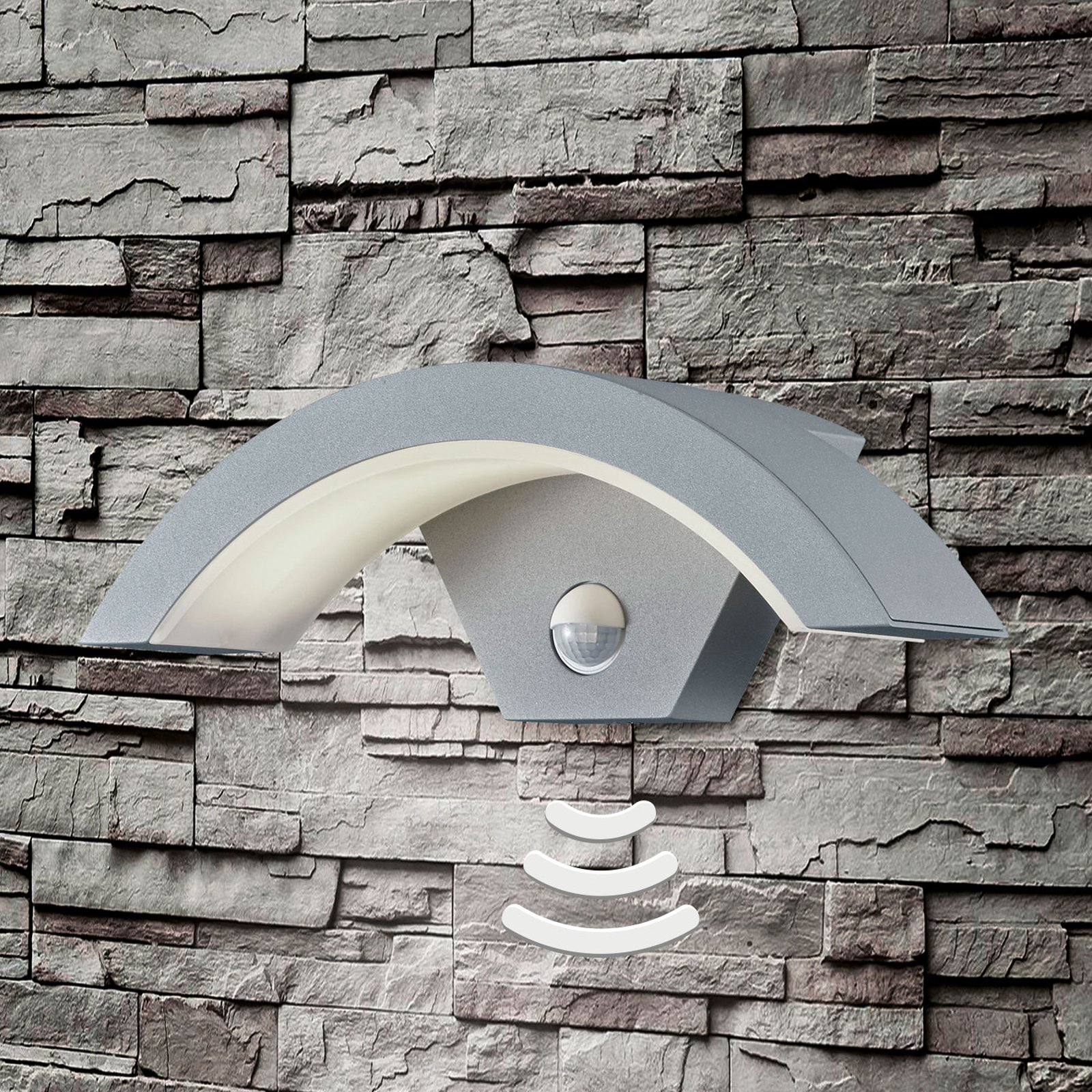 Titanfarget LED-utevegglys Ohio m. sensor