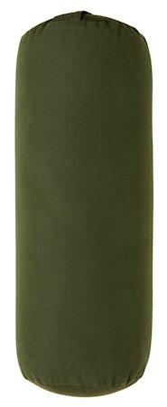 YOGA Bolster Large Rund Mørkegrønn