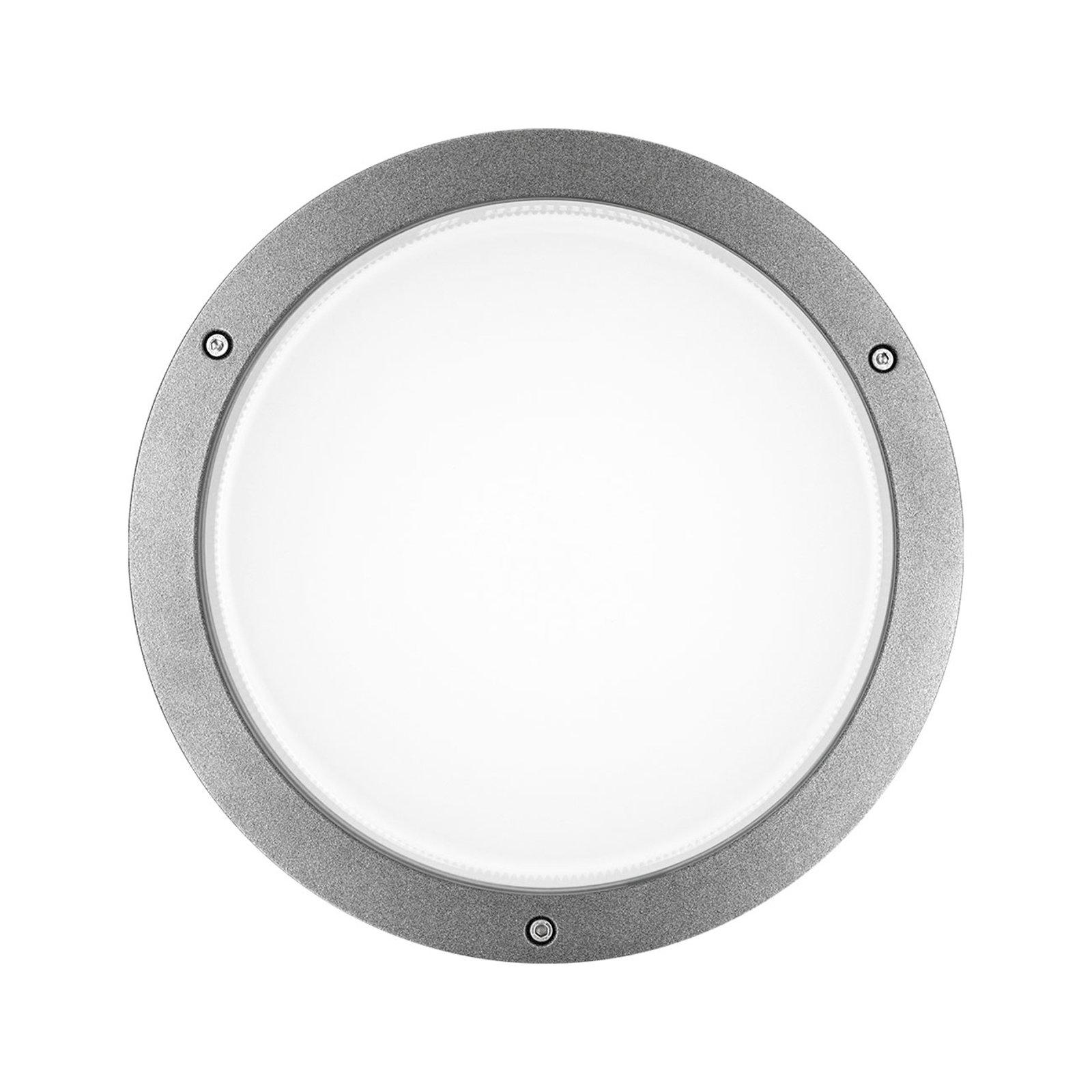 LED-vegglampe Bliz Round 30 3 000 K, grå dimbar