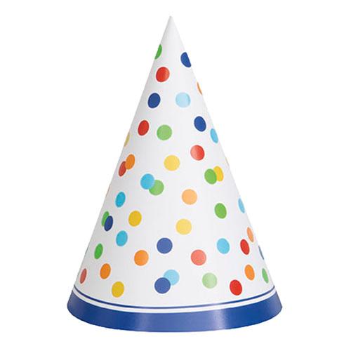 Partyhattar Polka Dot - 8-pack