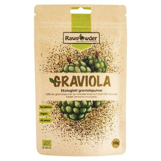 Rawpowder Ekologiskt Graviolapulver, 100 g
