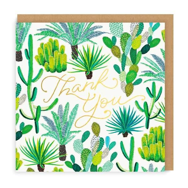 Cacti Thank You Greeting Card