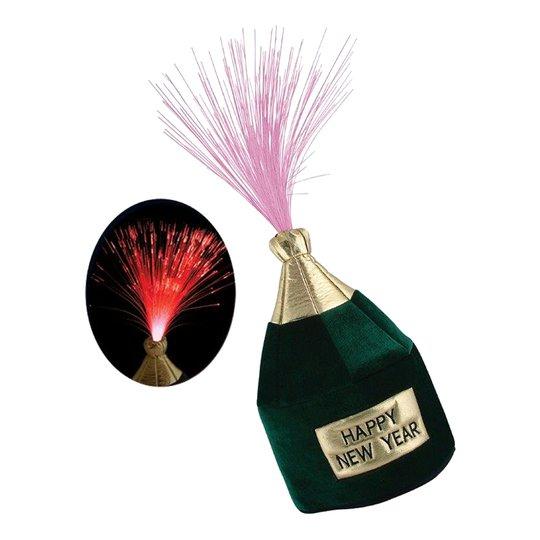 Champagneflaska Hatt med Belysning - One size