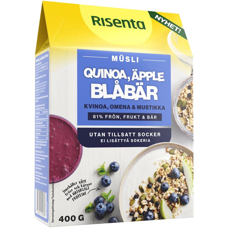 Mysli Kvinoa, Omena & Mustikka - 33% alennus