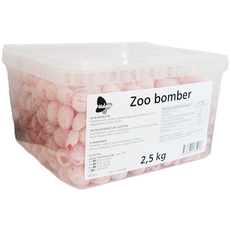 "Hel Låda Godis ""Zoo Bomber"" 2,5kg - 70% rabatt"