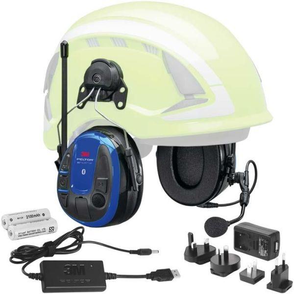 3M Peltor WS Alert XPI Kuulonsuojain Bluetooth, sovellus, kypäräkiinnike, laturi