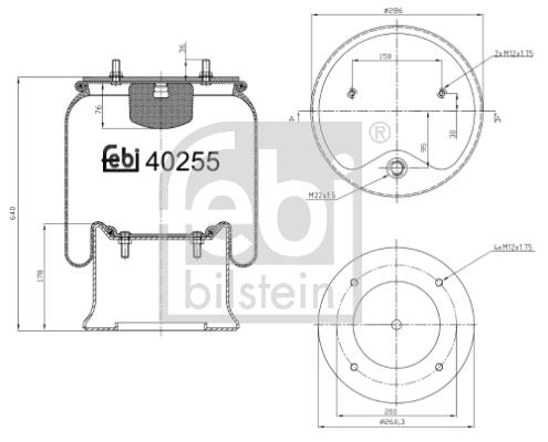 Metallipalje, ilmajousitus FEBI BILSTEIN 40255