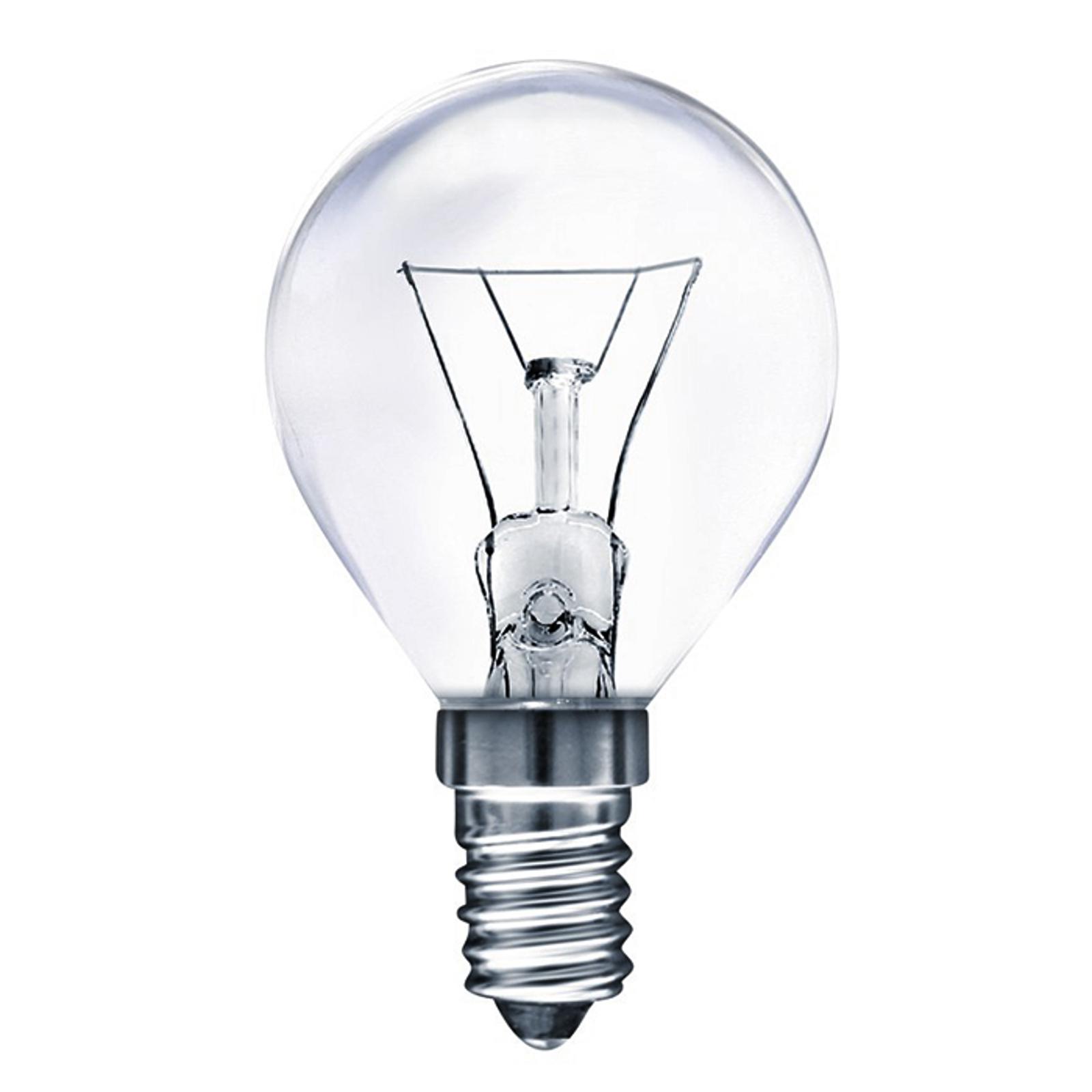 E14 25W uunilamppu, pisara, lämmin valkoinen