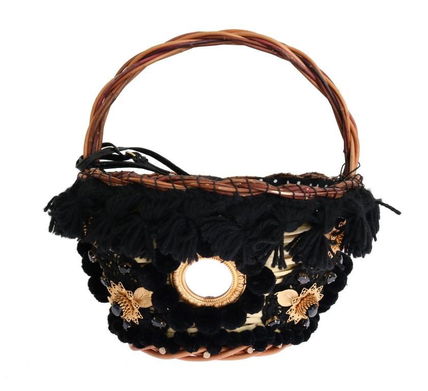 Dolce & Gabbana Women's Crystal Agnese Bag Beige VAS1258