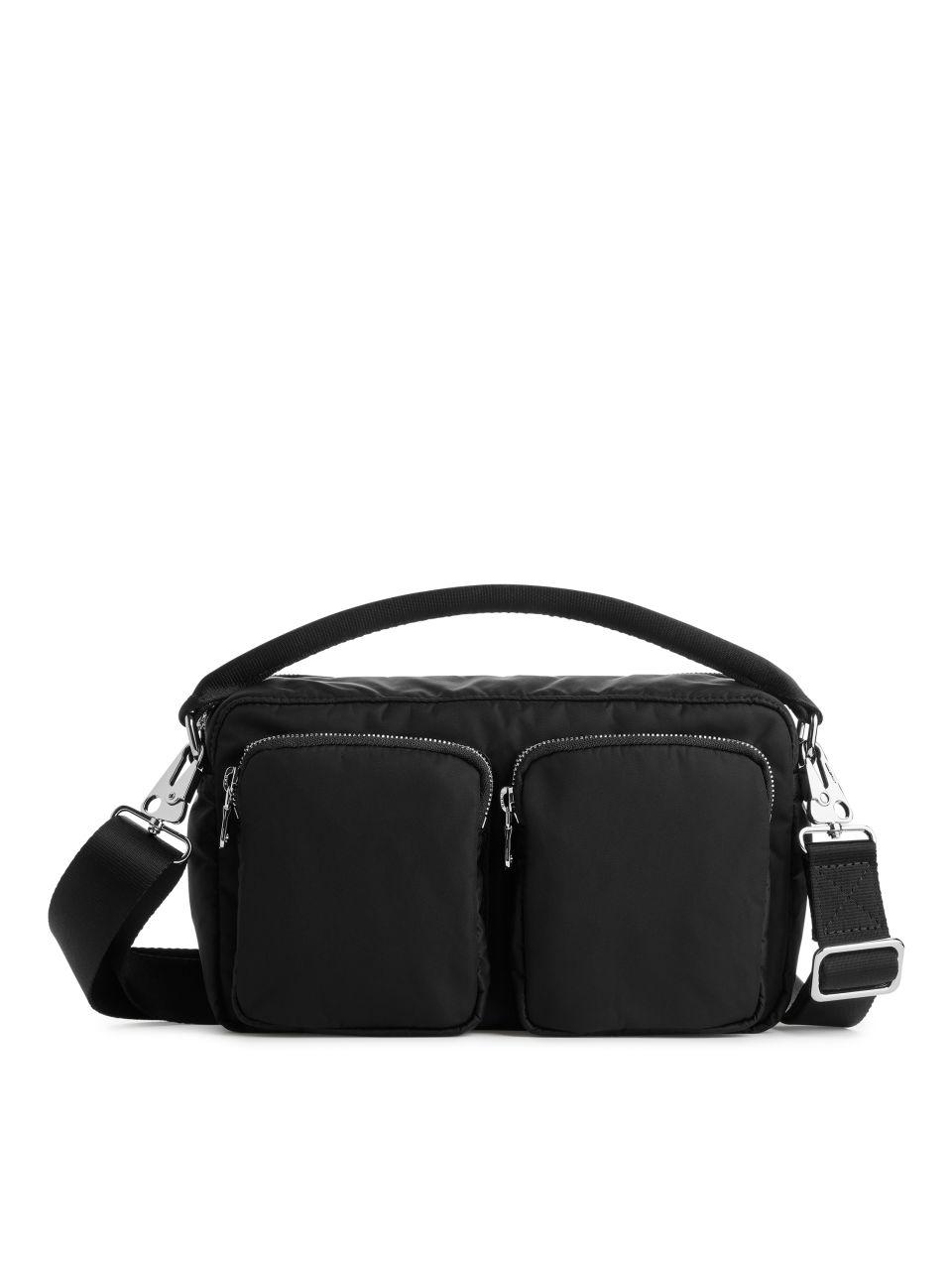 Multipocket Crossbody Bag - Black