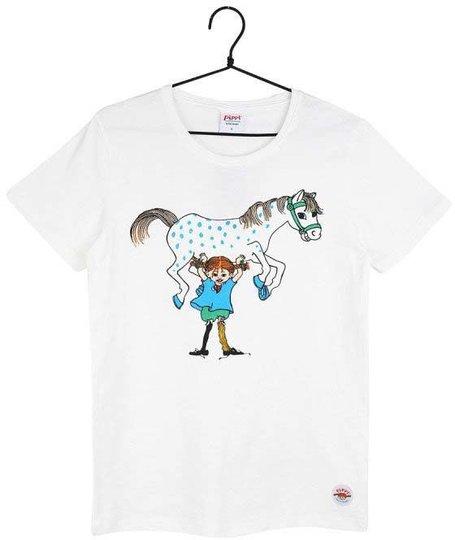 Pippi Langstrømpe T-Shirt, Hvit, 86