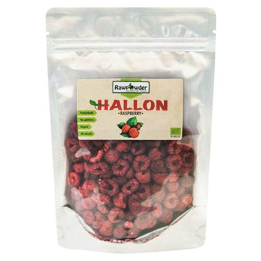 Rawpowder Ekologiska Frystorkade Hallon Hela, 50 g