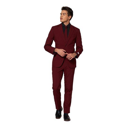 OppoSuits Burgundy Kostym - 62