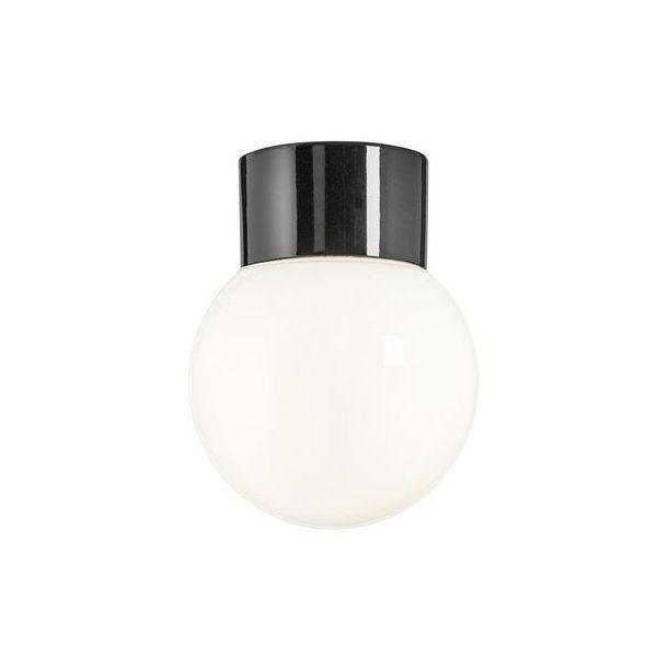 Ifö Electric 6040-840-16 Takarmatur blank, svart, rett, IP54, LED