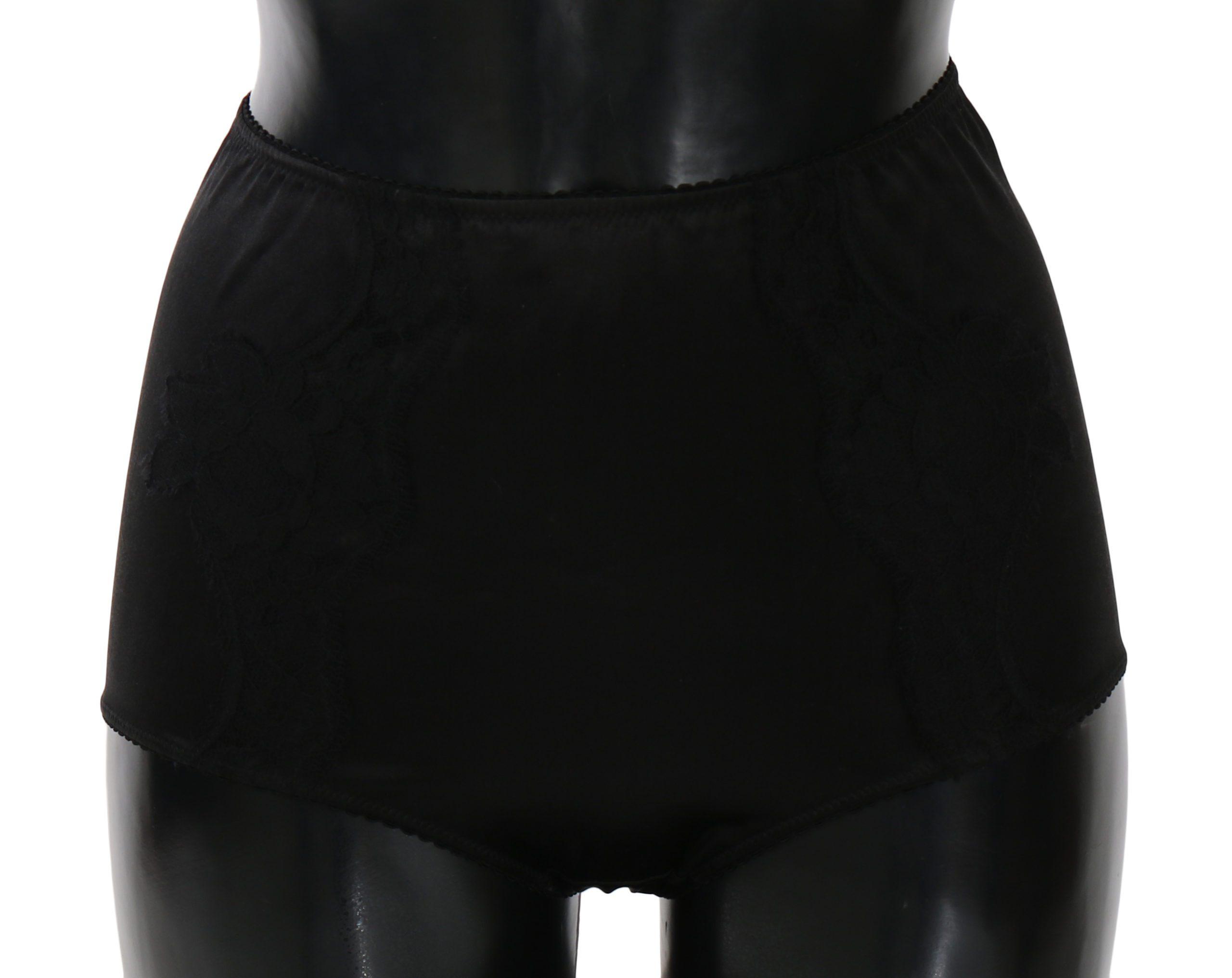 Dolce & Gabbana Women's Silk Lace Stretch Underwear Black BIK672 - IT1 | XS
